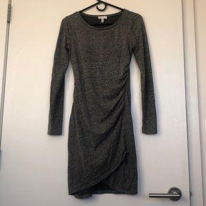 Leith shirred gray dress